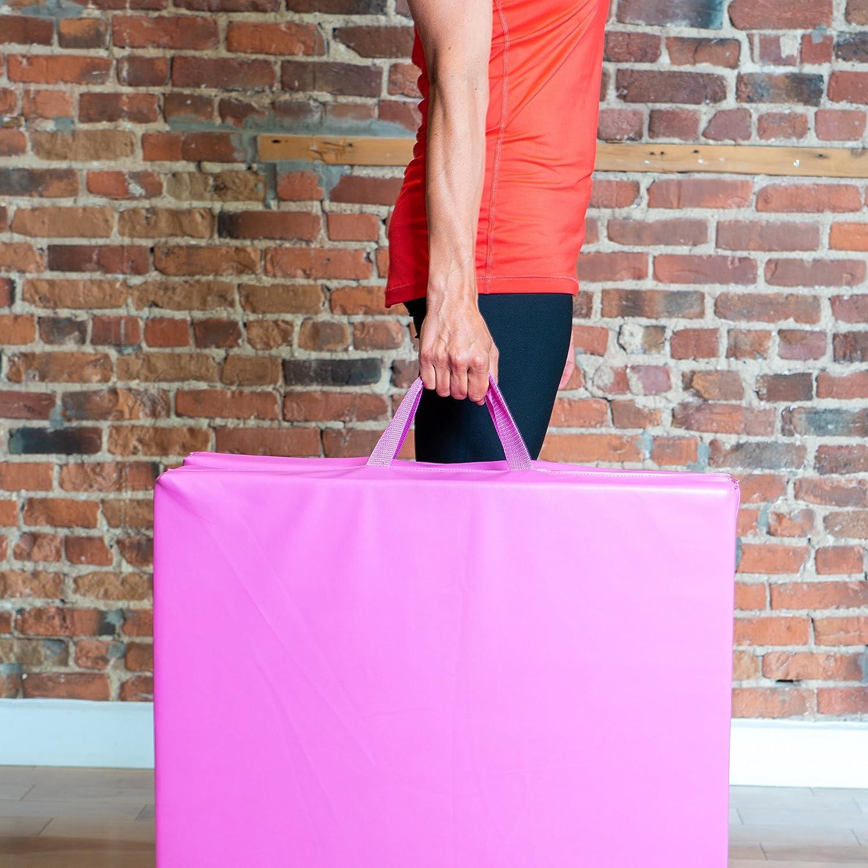 PRISP Tapis de Sol 180cm pour Fitness et Exercices Largeur 5 cm Matelas de Gym /Épais et Pliable pour la Maison; Longueur 60cm /Épaisseur 180 cm
