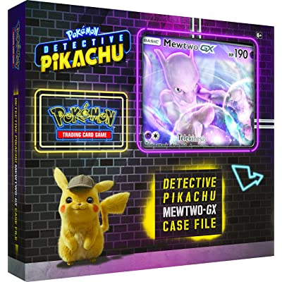 Pokemon TCG: Detective Pikachu Mewtwo-Gx Case File | 6 Booster Pack | A Foil Promo Gx Card | A Oversize Gx Foil Card: Toys & Games