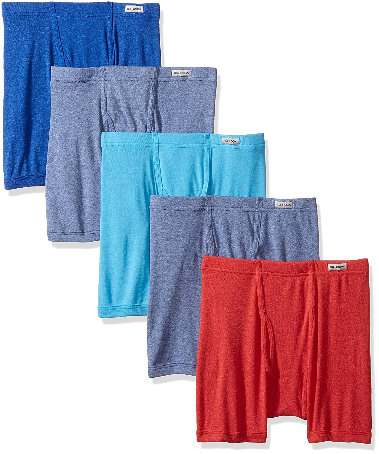 Fruit of the Loom Big Boys 5 Pack Boxer Brief Assorted Small 5CELBSC