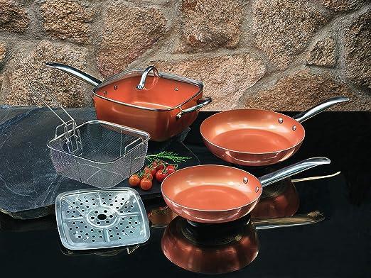 XSQUO Useful Tech Juego DE 2 SARTENES Chef. TAMAÑOS DE 22 Y 26CM + ...