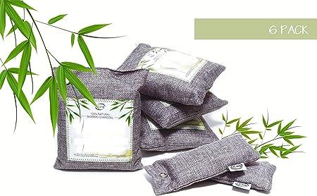 ULING 6 bolsas de carbón de bambú activado natural purificante de ...
