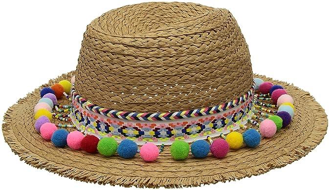 Betsey Johnson Women s Shake Pom Panama Hat 77e5ccb2aff7
