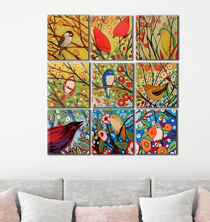 karribi moderno pájaros pintura por número Kit serie: Amazon.es: Juguetes y juegos