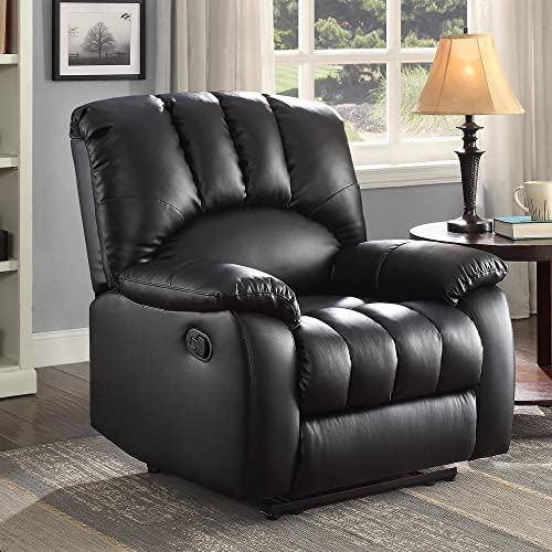 Recliner Chair with Pocketed Comfort Coils Black