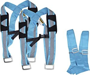 Quantum Genius Furniture Moving Straps - Heavy Duty Appliance Lifting Straps & Shoulder Dolly Harness for Movers - Stronger Polyester Carrying Lift Straps & Ultra-Safe Stainless Steel Buckle System