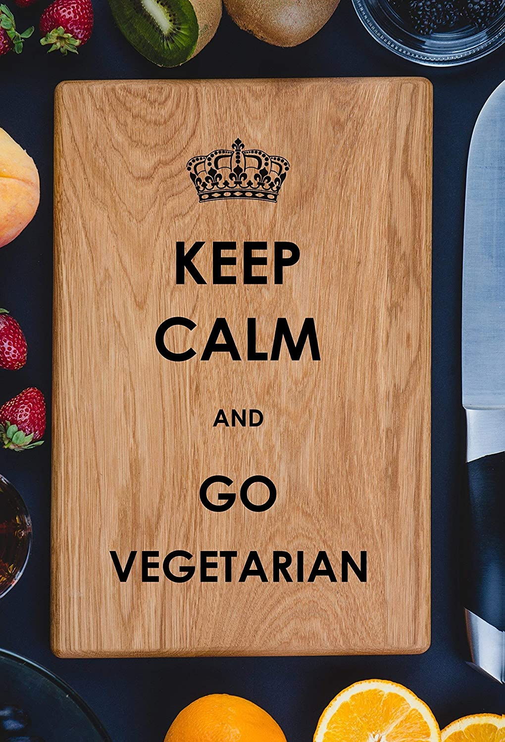 I Love Veg Vegetarian Vegan Healthylife Vegetables Yoga Personalized Engraved Cutting Board