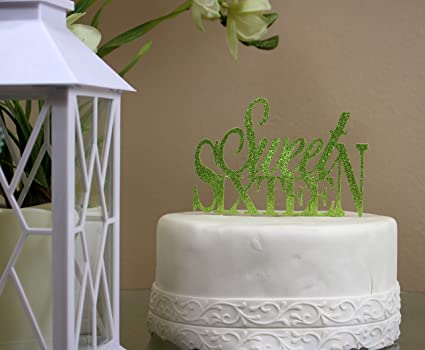 Amazon All About Details Lime Green Sweet Sixteen Cake Topper