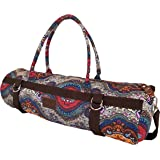 Yoga Mat Bags Carrier Patterned Canvas with Pocket and Zipper