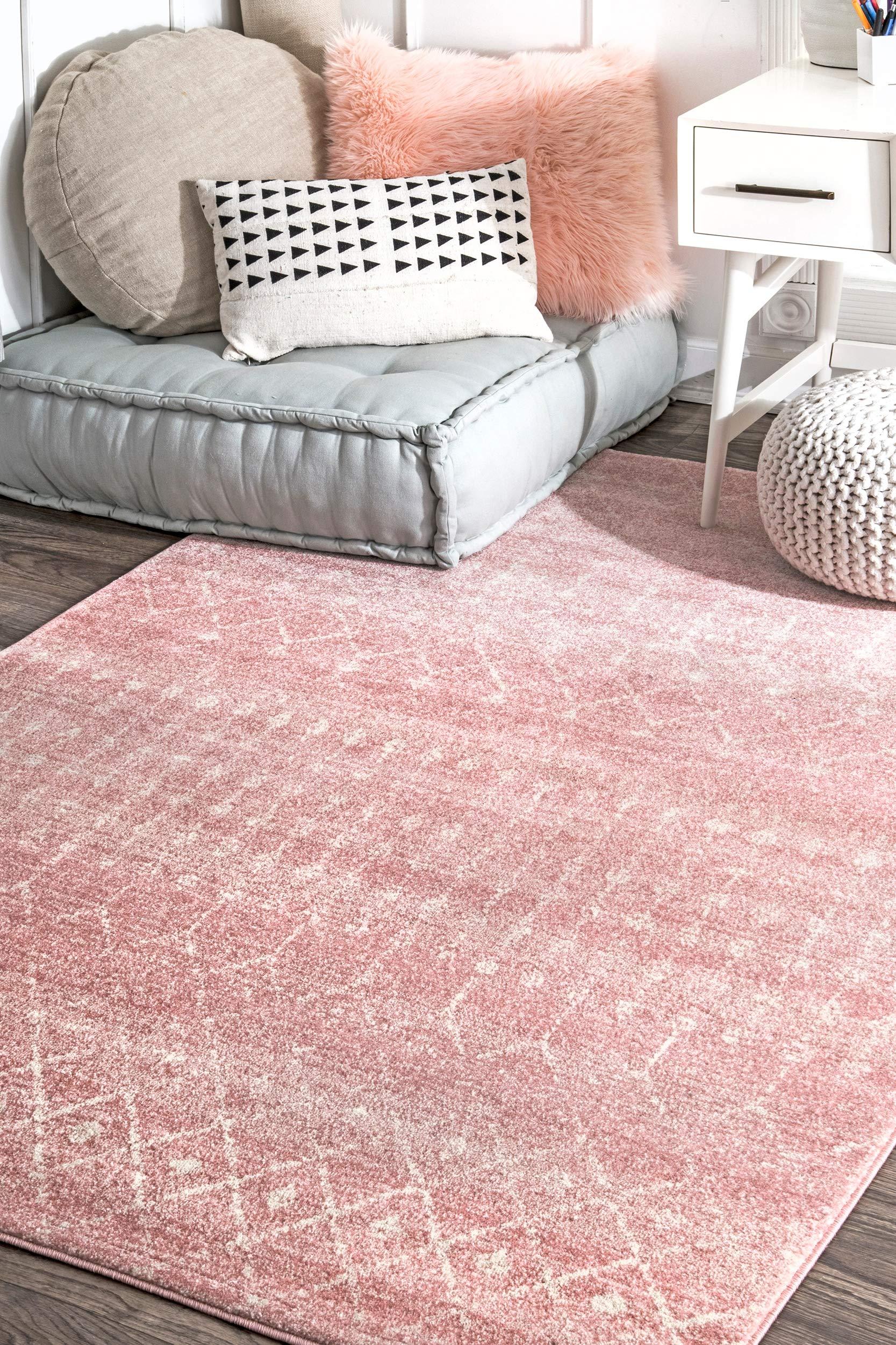 """nuLOOM Moroccan Blythe Runner Rug, 2' 8"""" x 8', Pink"""