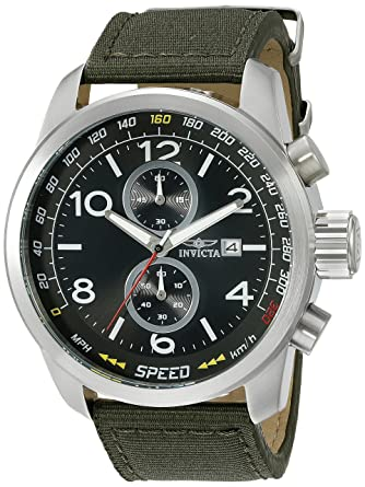 189b637c0 Image Unavailable. Image not available for. Color: Invicta Men's 19409SYB  Aviator Stainless Steel Watch with Nylon Strap
