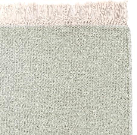 URBANARA Alfombra manufactures – 100% Lana de Mezcla de algodón ...