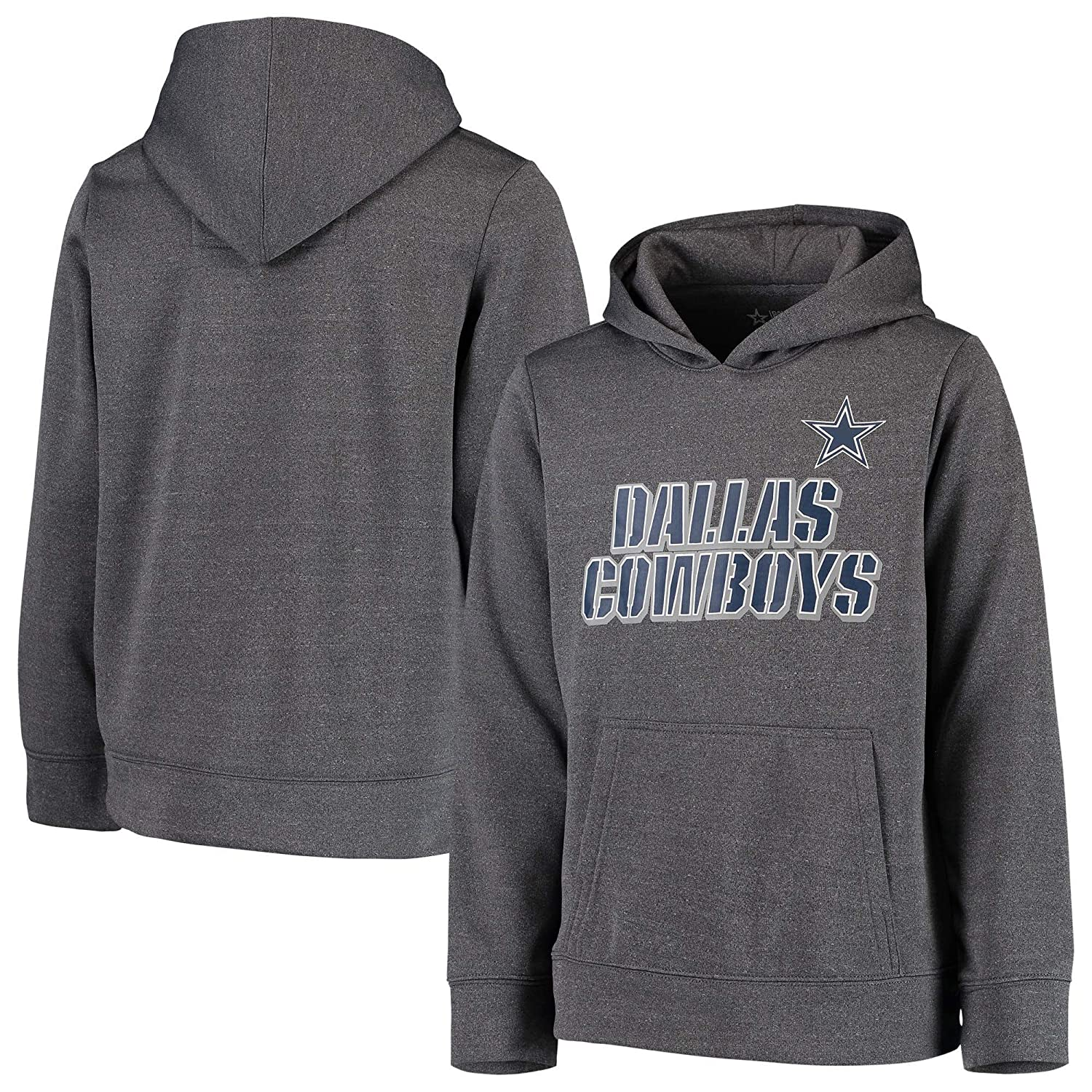 Amazon.com   Licensed Sports Apparel Dallas Football Youth Maurice Pullover  Charcoal Hoodie   Sports   Outdoors 65bc202f9