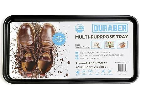 Multiuso Antideslizante para bandeja de almacenamiento & Utility Floor Mat. Uso interior o exterior para zapatos, Pet Cuencos, Plantas y herramientas.