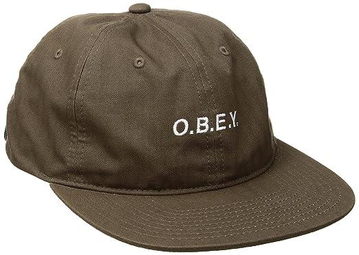 Obey Hombres 100580078 Gorra de béisbol - Gris - Talla única ...