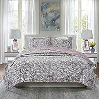 Comfort Spaces Quilt Coverlet Bedspread Bedding Set, CS14-0892, Fabric, Plum Purple, Full/Queen