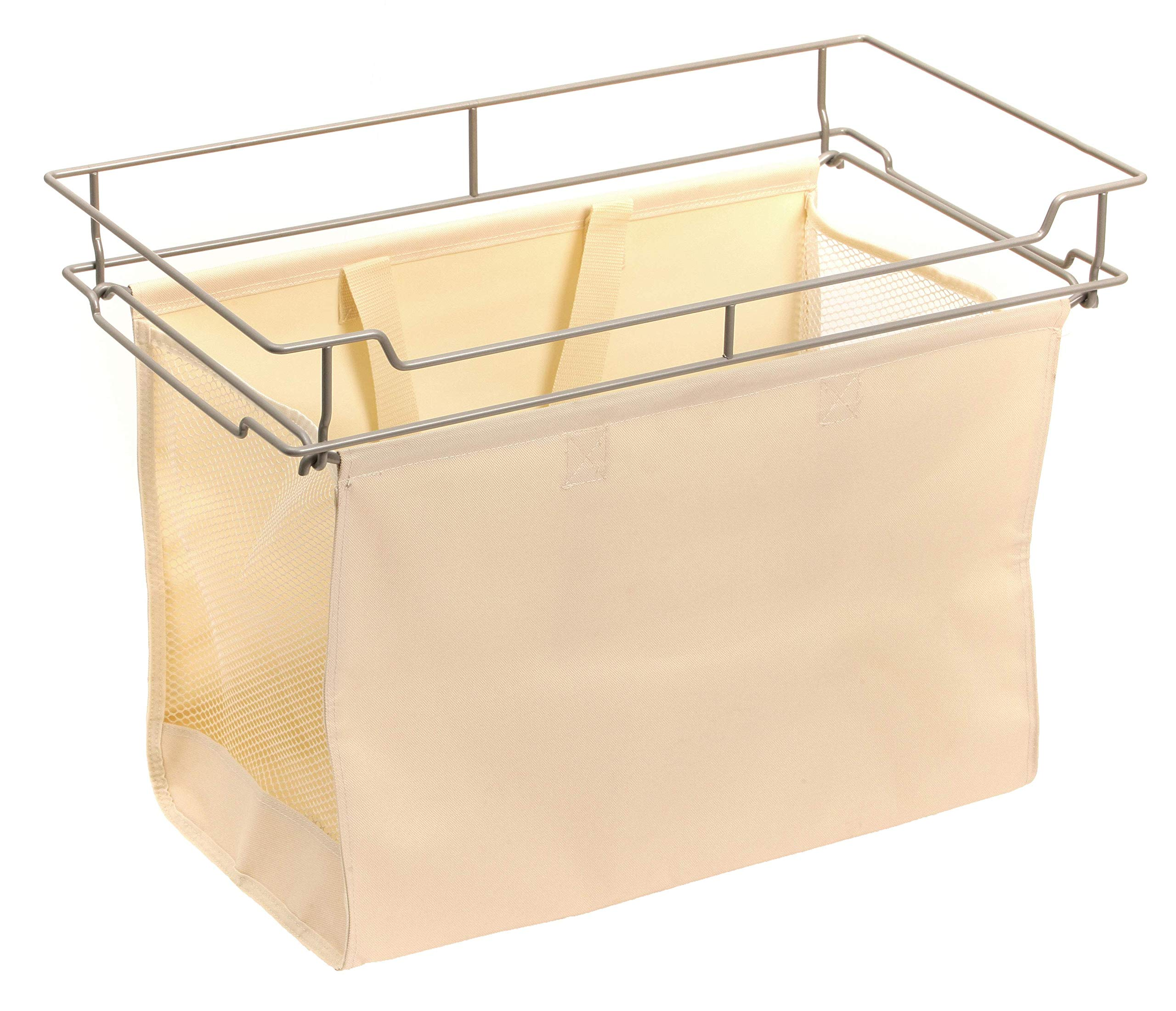 Easy Track Sliding Canvas Hamper Closet Storage, Off Off White by Easy Track