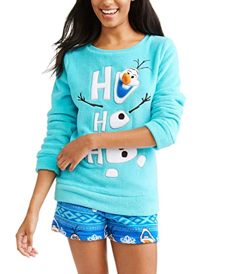 MJC International Disney Frozen Olaf Top and Short Plush Fleece Sleep Set -  Small 73ea0209f