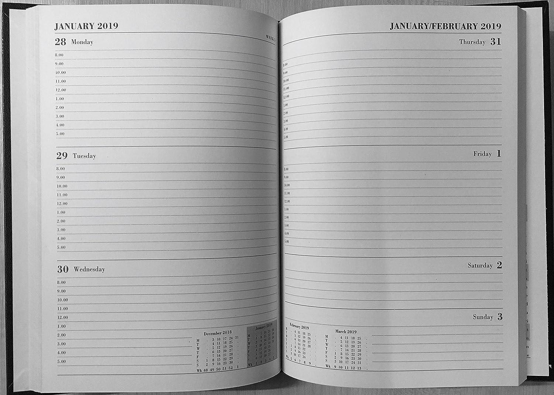 pr/écieux 2017-2018/Noir Agenda scolaire A5/reli/é un Semainier Appointment 18/mois