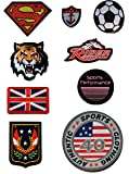 Kids Birthday Return Gifts Iron-on fabric patches/ badges/ applique / emblems for clothing (Each gift has these 9 iron-on cloth patch designs) Set of 5 such gifts