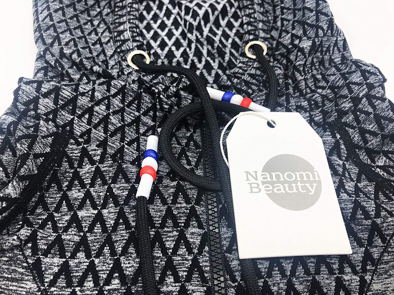 Nanomi Beauty Sweat-shirt /à capuche pour femme Manches longues Printemps Automne Sport Course /à pied Fermeture /Éclair D/écontract/é