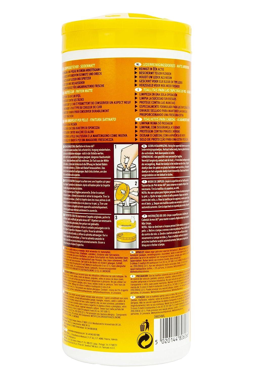 Amor All AA39024ML Toallitas Limpiadoras de Piel: Amazon.es: Coche y moto