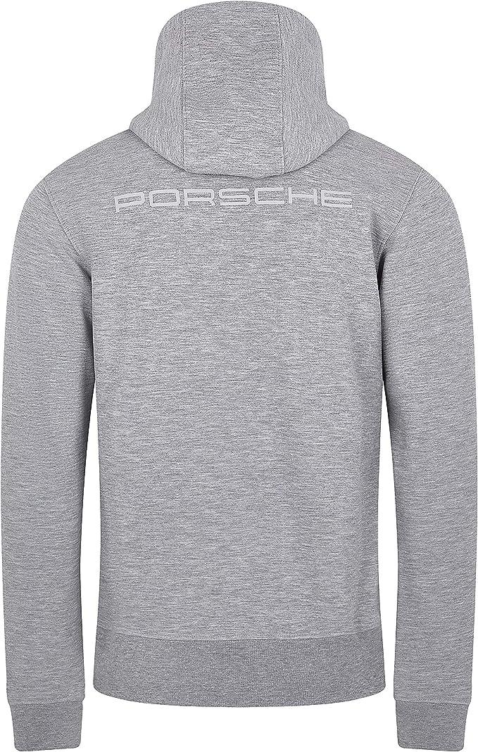 Porsche Motorsport Mens Gray Hoodie Sweatshirt