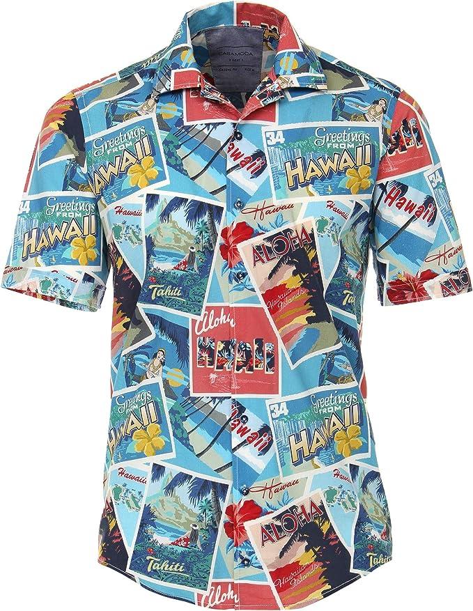 CASAMODA - Camisa de Manga Corta para Hombre, diseño Hawaiano, Multicolor M a 5XL: Amazon.es: Ropa y accesorios