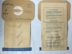 EnviroCare Replacement Vacuum Bags for Vacuum Bags for Electrolux Canisters - Style C 100 Bags