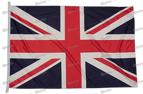 Bandera Reino Unido 150x100 en tela náutico resistente al viento 115g/m², bandera UK 150x100 lavable, bandera de Reino Unido 150x100 alta calidad con cordón, doble costura perimetral y cinta de refuerzo: Amazon.es: