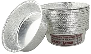 Campliner Dutch Oven Liners, 30 Pack of 10-Inch 4 Quart Disposable Liners - No More Cleaning or Seasoning. Fits Lodge, Camp Chef, and other Cast Iron Dutch Ovens