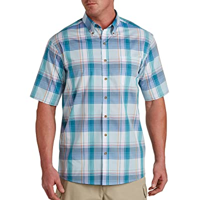 Harbor Bay by DXL Big and Tall Easy-Care Multi Plaid Sport Shirt