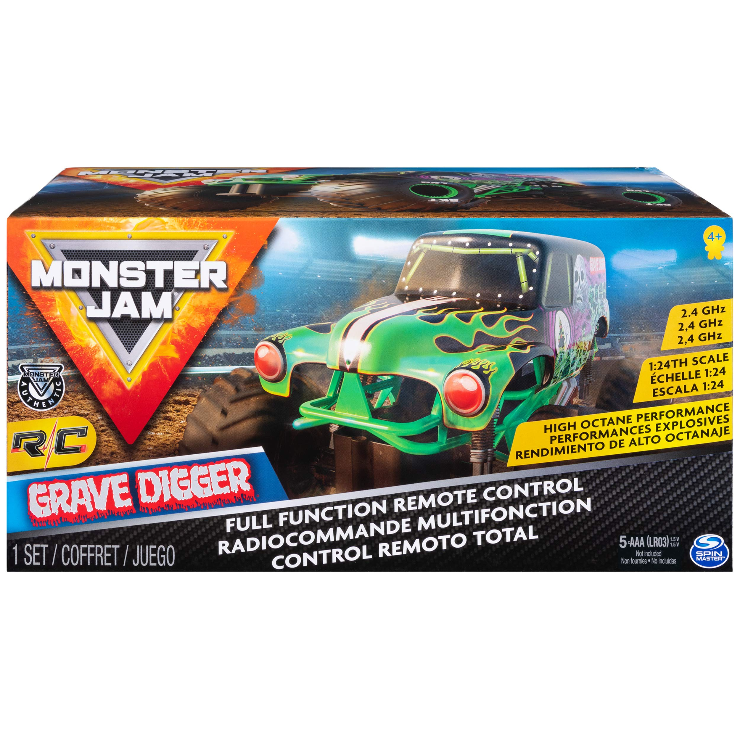 Monster Jam Official Grave Digger Remote Control Monster Truck, 1:24 Scale, 2.4 GHz, for Ages 4 and Up by Monster Jam (Image #2)