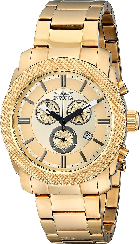 Invicta Men s 17744 Specialty Analog Display Swiss Quartz Gold Watch