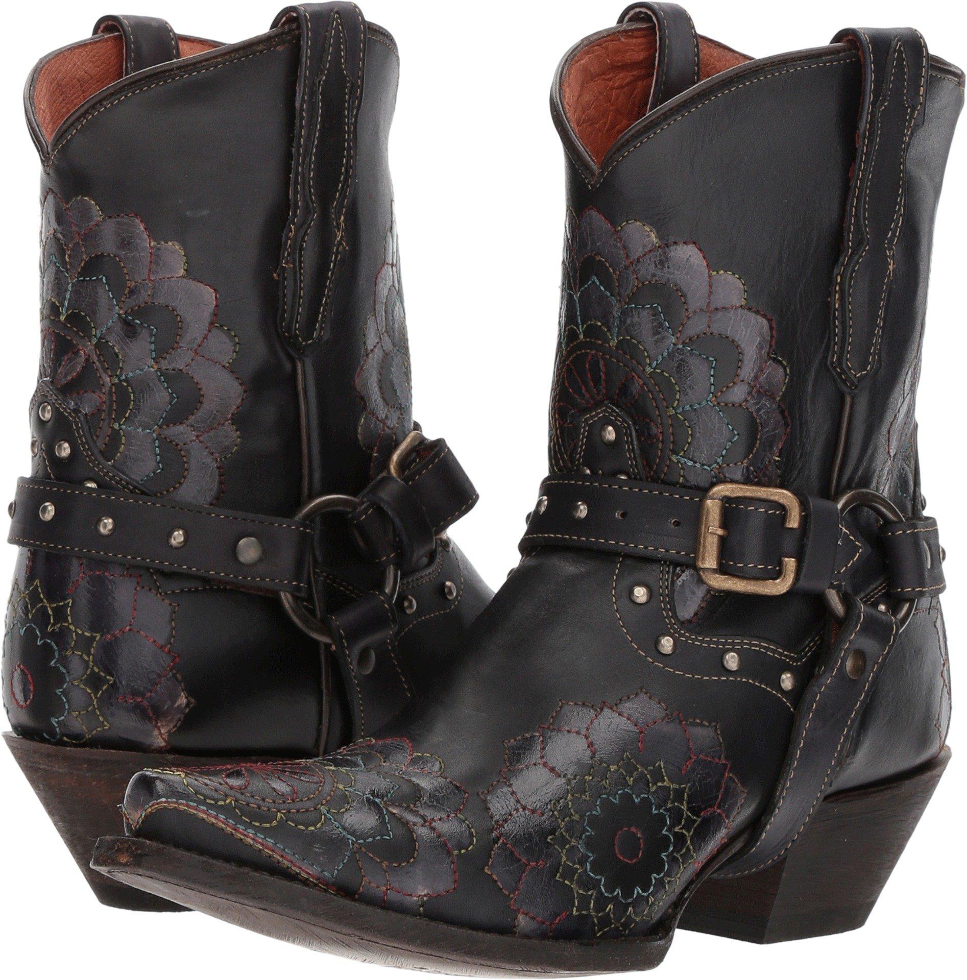 Dan Post Western Boots Womens Leslie 7.5 M Black Floral DP3545