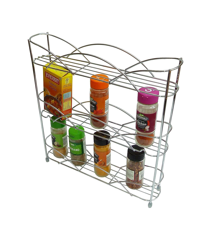 /Étag/ère autoporteuse Chrome pour /épices et herbes Kitchenista universelle pour accueillir des pots et flacons d/'/épices de taille multiples
