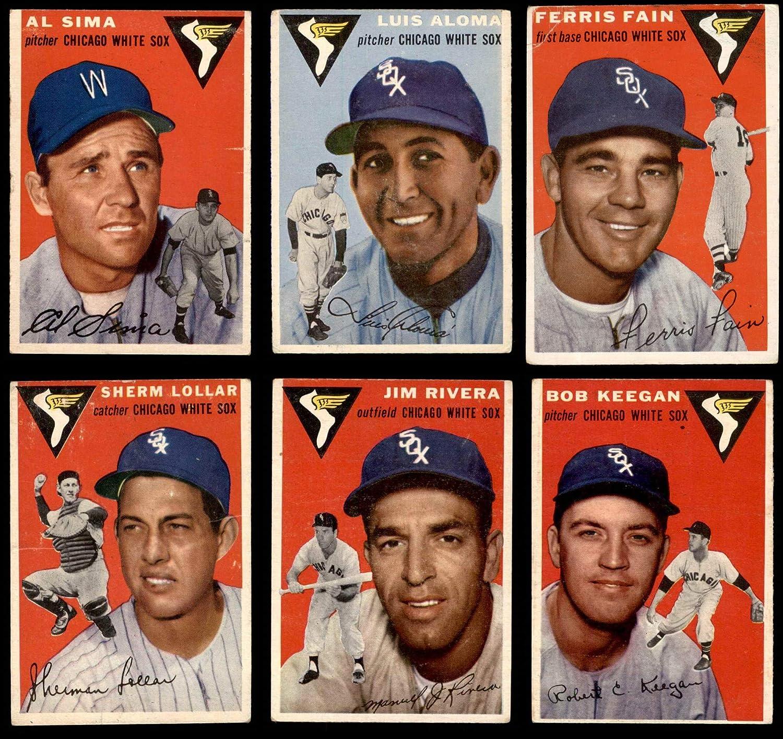1954 Topps Chicago White Sox Team Set Chicago White Sox (Baseball Set) Dean\'s Cards 3.5 - VG+ White Sox 91NyTSSe1LLSL1500_