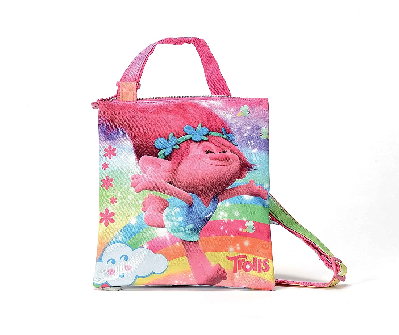 Trolls Happiness O95181 MC Borsa Sportiva per Bambini, 20 cm, Multicolore