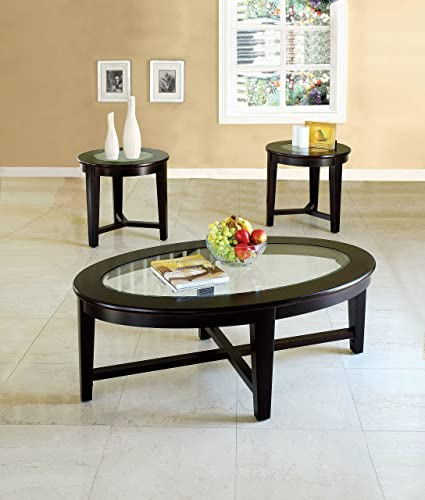 Benzara Kort Coffee/End Table Set 3 Pack