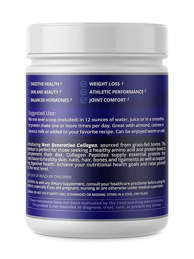 Collagen Peptides Powder Hydrolyzed Protein for Women and Men | Designed for Healthier Hair, Skin and Nail, Anti-Aging, Joint Support, Digestive System.