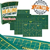 Self Healing Cutting Mat Double Sided with Grids and Angles. Premium Quality Self Healing Mat Board for Sewing Quilting Paper Crafts Wood Fabric ScrapBooking. Best with Rotary Cutter Knives Rulers.