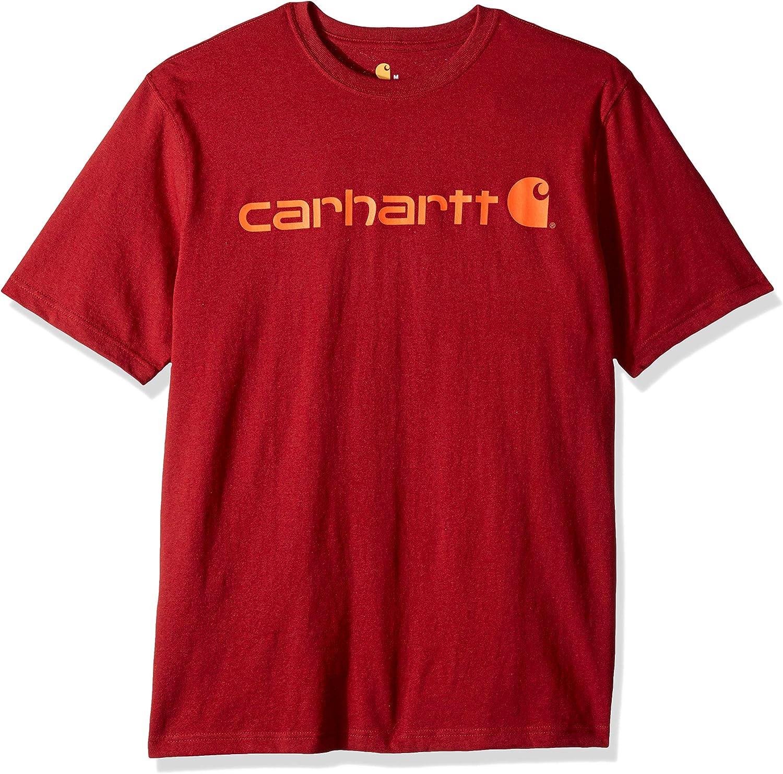 Carhartt Men's Signature Logo Short Sleeve Midweight Jersey T-Shirt K195