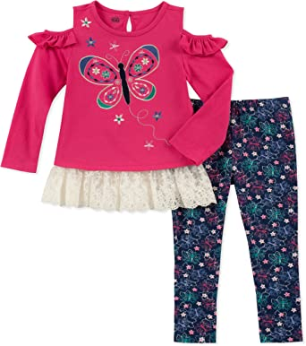 4T Toddler Girl/'s Outfit Fleece Hoodie and Pants Kids Headquarters Pink NEW