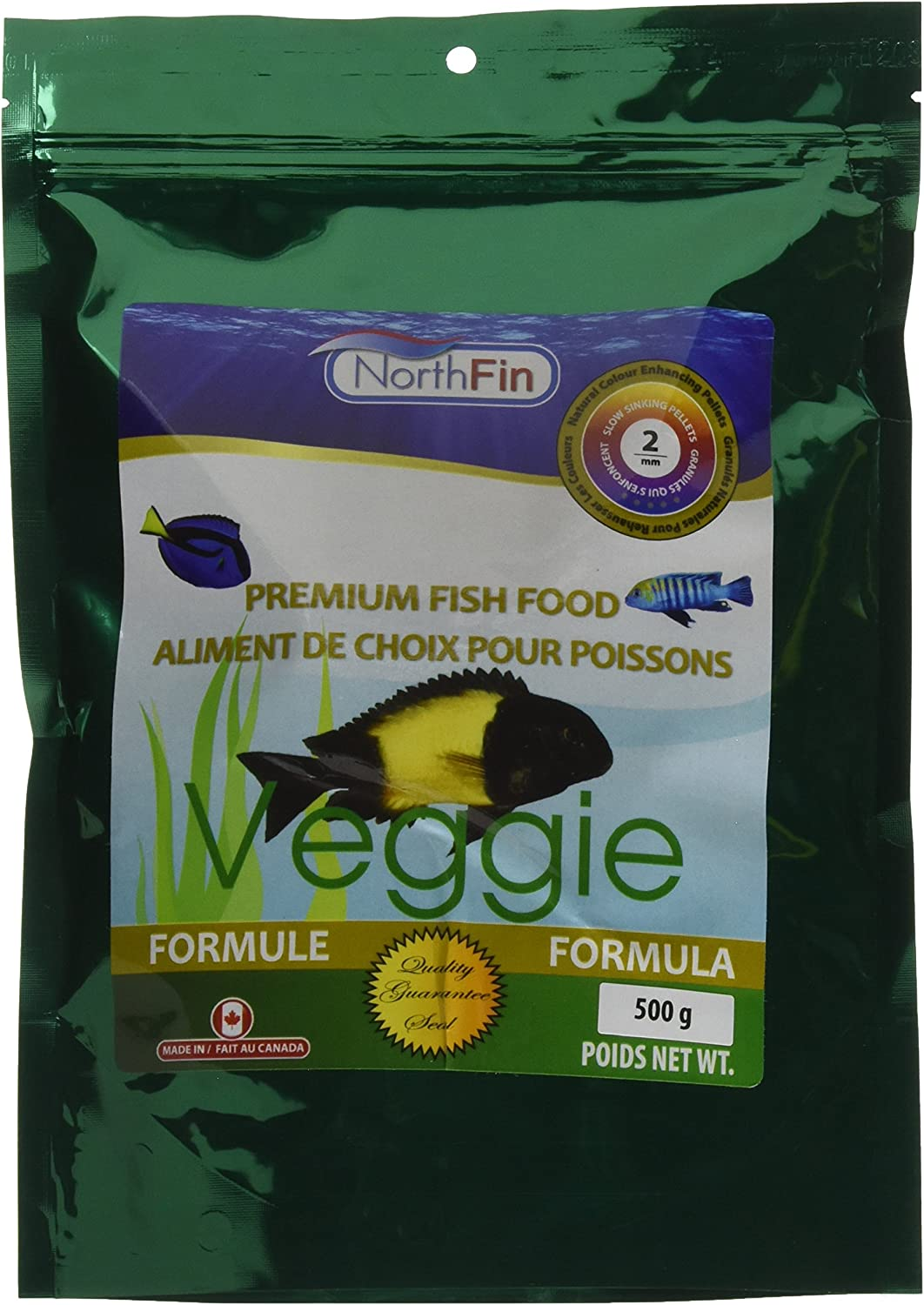 Northfin Food Veggie Formula 2Mm Pellet 500 Gram Package