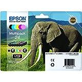 Encre d'origine EPSON Multipack Eléphant T2428 : cartouches Noir, Cyan, Magenta, Jaune, Cyan clair, Magenta clair