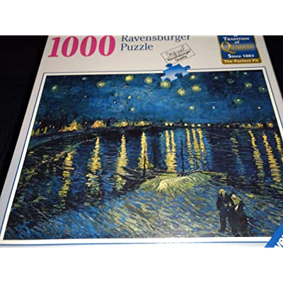 Ravensburger Puzzle VAN GOGH's STARRY NIGHT OVER THE RHONE 1000 Piece: Toys & Games