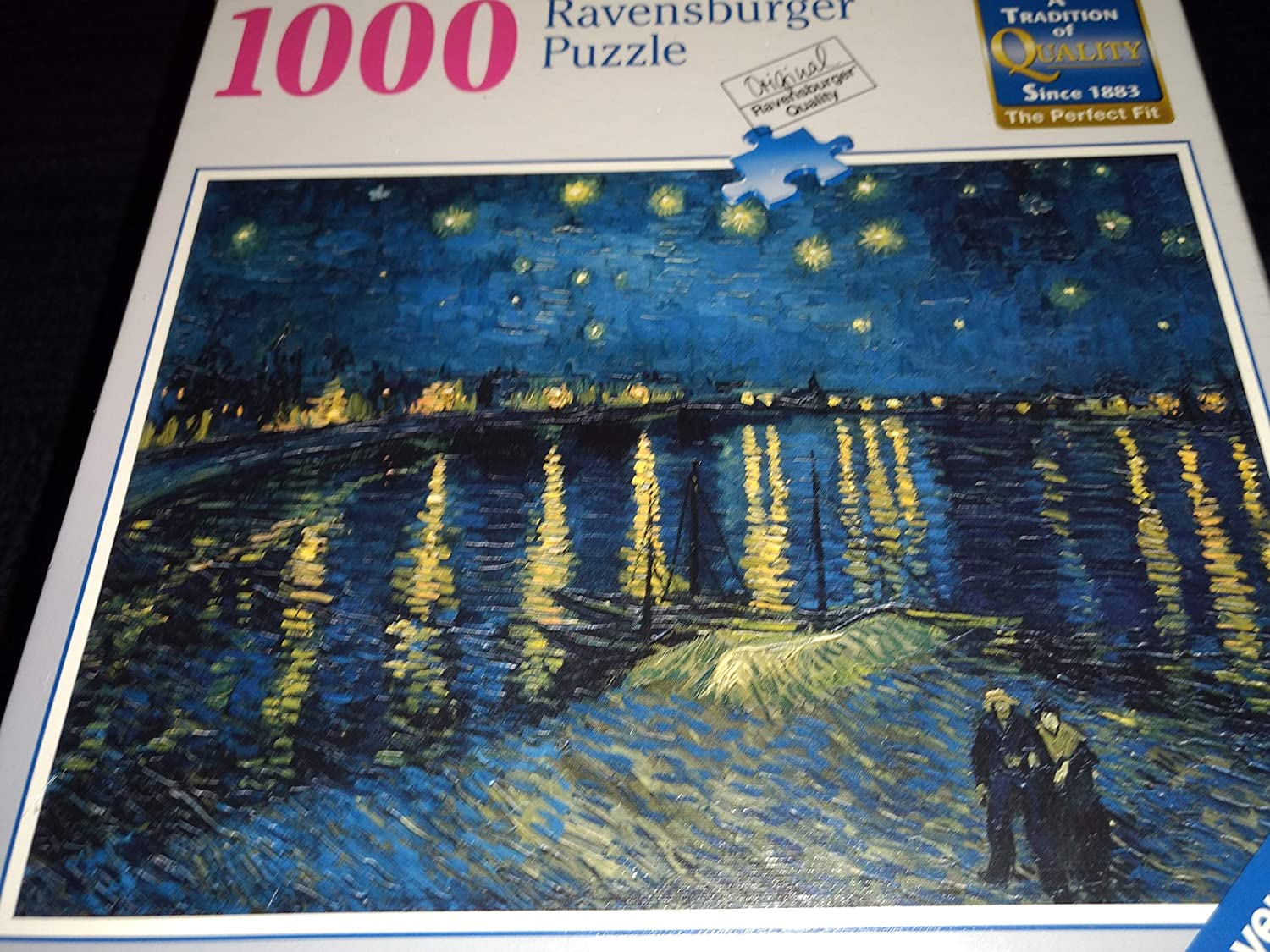 1000 Piece Puzzle Jigsaw Puzzle Life Van Gogh Starry Night Over the Rhone