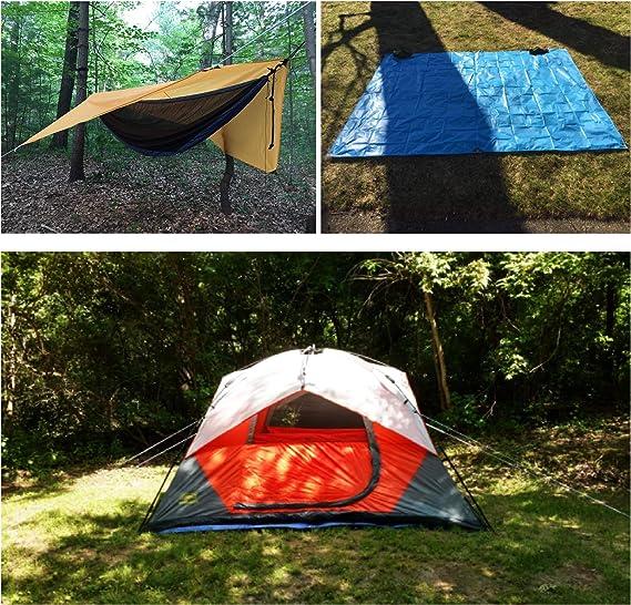 TRIWONDER B/âche Camping Imperm/éable Tarp L/éger Parasol Plage Tapis de Sol Tente de Pluie Couverture Abri Auvent pour Voyage Pique-Nique