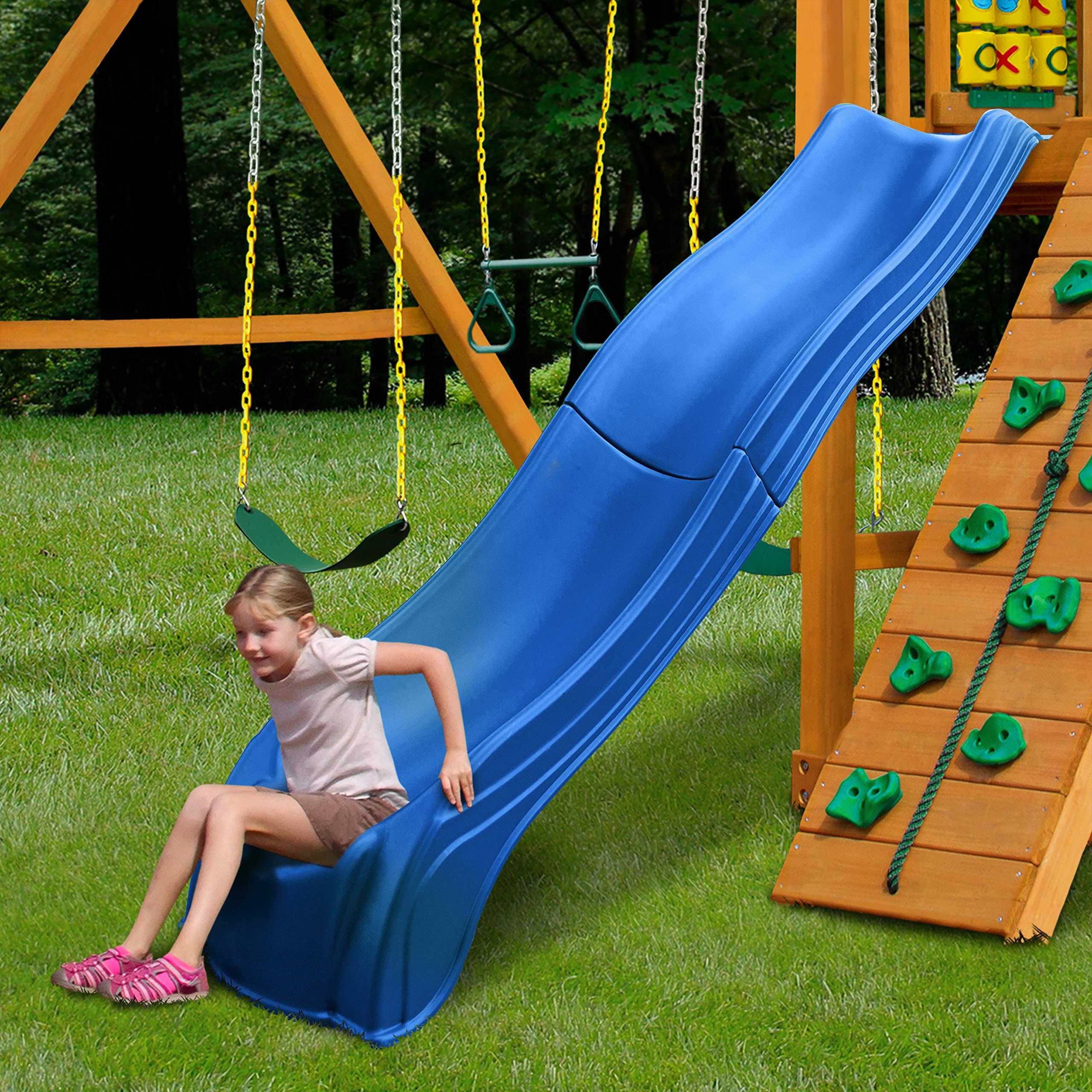 Swing-N-Slide WS 5032 Olympus Wave Slide 2 Piece Plastic Slide for 5' Decks, Blue by Swing-N-Slide (Image #2)