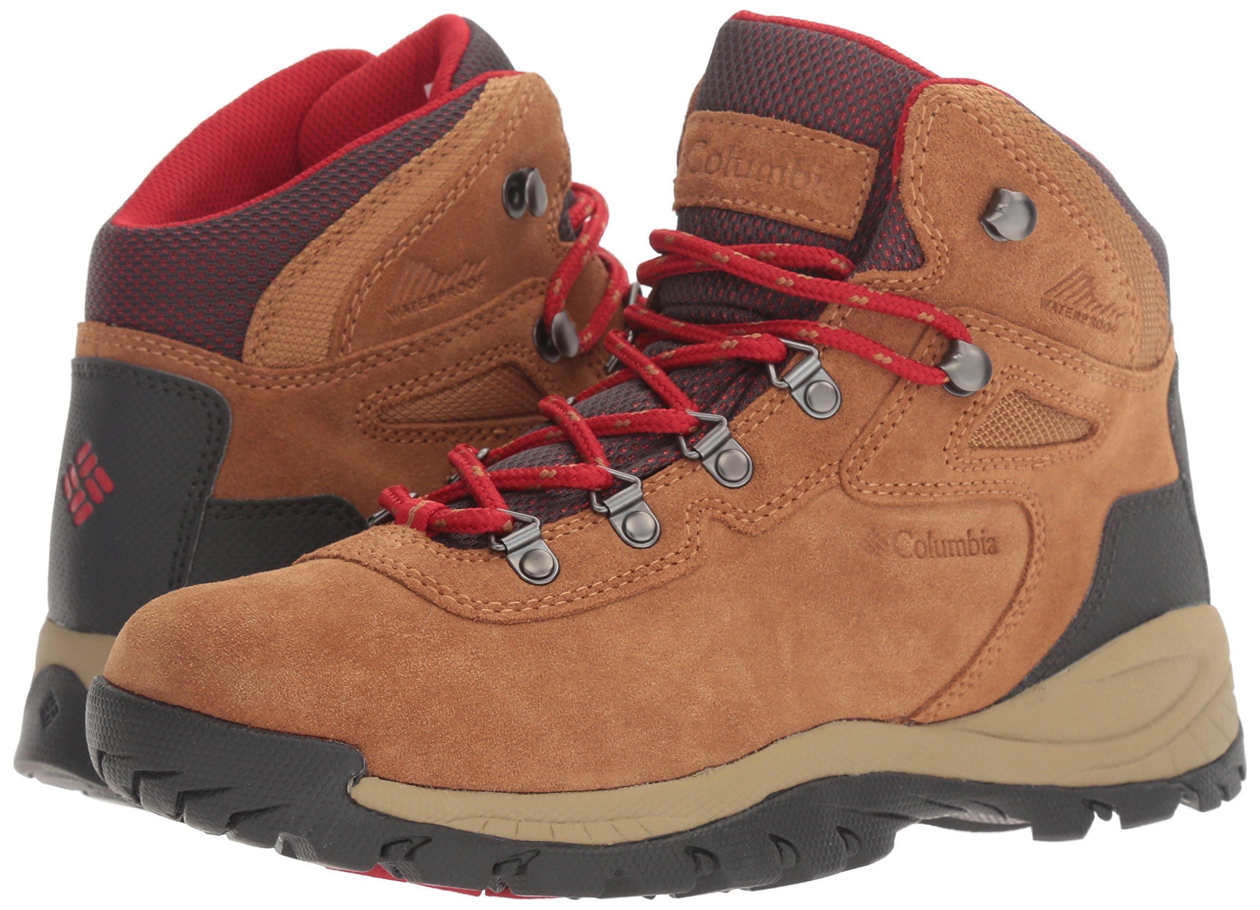 Columbia Women's Newton Ridge Plus Waterproof Amped Hiking Boot, Elk, Mountain Red, 7.5 B US by Columbia (Image #6)