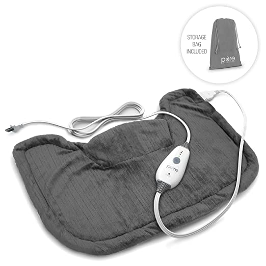 severe upper back spasms heating pad